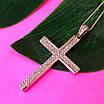 Серебряный крестик католический - Католический крестик из серебра с камнями, фото 3