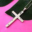 Серебряный крестик католический - Католический крестик из серебра с камнями, фото 4