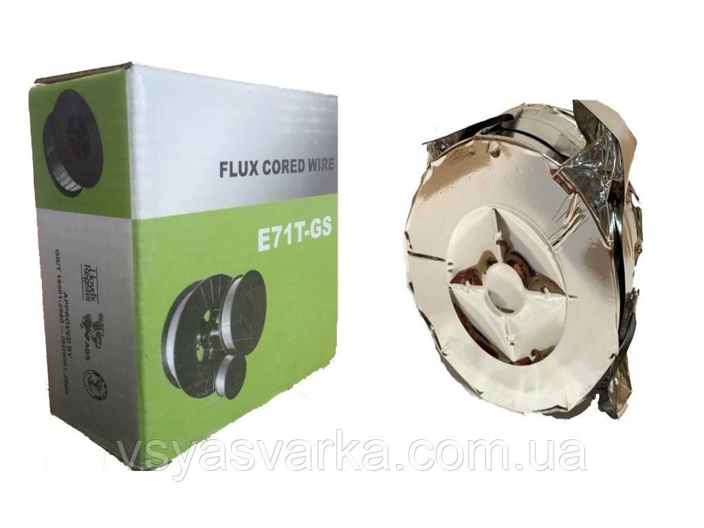 Дріт зварювальний флюсова Е71Т-GS (без газу) 0.8 мм 1кг