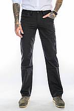 Мужские джинсы Franco Benussi 3202 в полоску черные