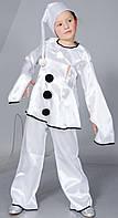 Карнавальный детский костюм сказочного героя Пьеро (В-2)