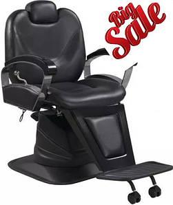 Кресла парикмахерские Barber черные кресло для барбершопа ZD354