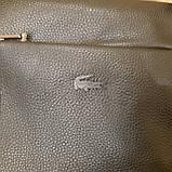 Сумка планшет alligator городская мужская черная из натуральной кожи, фото 4