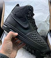 Ботинки Зимние кроссовки Nike Lunar Force Black кроссовки с мехом