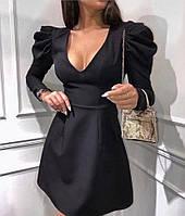 Женское платье,Ткань: креп костюмка, нарядное с длинным рукавом(42-48)
