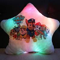 """Подушка-ночник """"Щенячий патруль"""". Светящаяся подушка"""