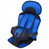 Детское автокресло WOW Lux бескаркасное с подголовником кресло для детей в авто от 9-36 кг Blue