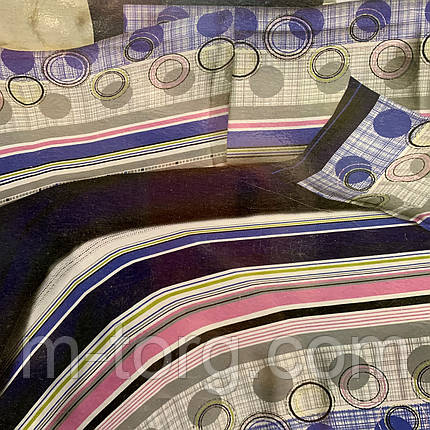 """""""полоса"""" постельное белье 3D эффект евро размер 200*220 см, нав-ки 70/70, фото 2"""