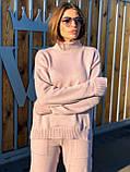 Модный женский вязаный брючный костюм, фото 3