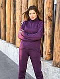 Модный женский вязаный брючный костюм, фото 2