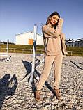 Модный женский вязаный брючный костюм, фото 5