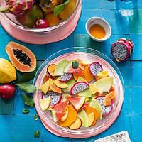 Tupperware Блюдо СК коллекция 1.3л с розовой крышкой