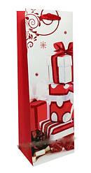 """Пакет картон 200грм, высокий """"Новогодний"""", 12*35*8см 6 шт в уп* //"""