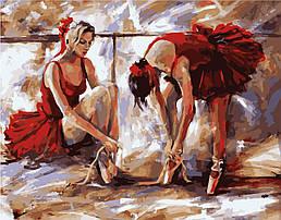 """Набір для розпису по номерах VA-0594 """"Балерини"""", розміром 40х50 см"""