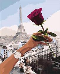 """Набір для розпису по номерах VA-1169 """"Побачення в Парижі"""", розміром 40х50 см"""
