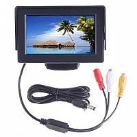 Монитор дисплей LCD 4.3'' для двух камер заднего вида, монитор