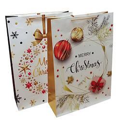 """Пакет гигант картон 200грм, """"MERRY CHRISTMAS"""" МИКС 2 вида,72*50*18см 2 шт в уп //"""