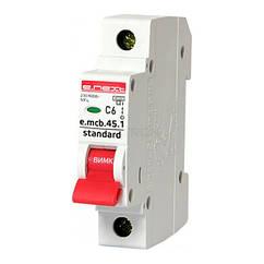 Автоматичний вимикач E.next e.mcb.stand.45.1.C6 6А