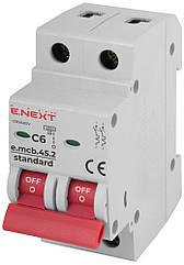 Автоматичний вимикач E.next e.mcb.stand.45.2.C6 6А