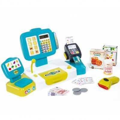 Интерактивная детская касса со сканером и выдачей чека Smoby 350105