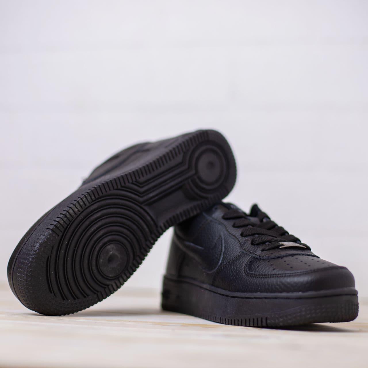 Nike Air Force low черные найк кроссовки  мужские форс кеды 41|42|43|44|45|46