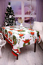 Скатерть Новогодняя 150-220 «Christmas Wreath»