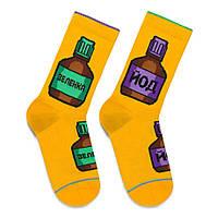 Шкарпетки із зображенням зеленки та йоду Зеленка-Йод