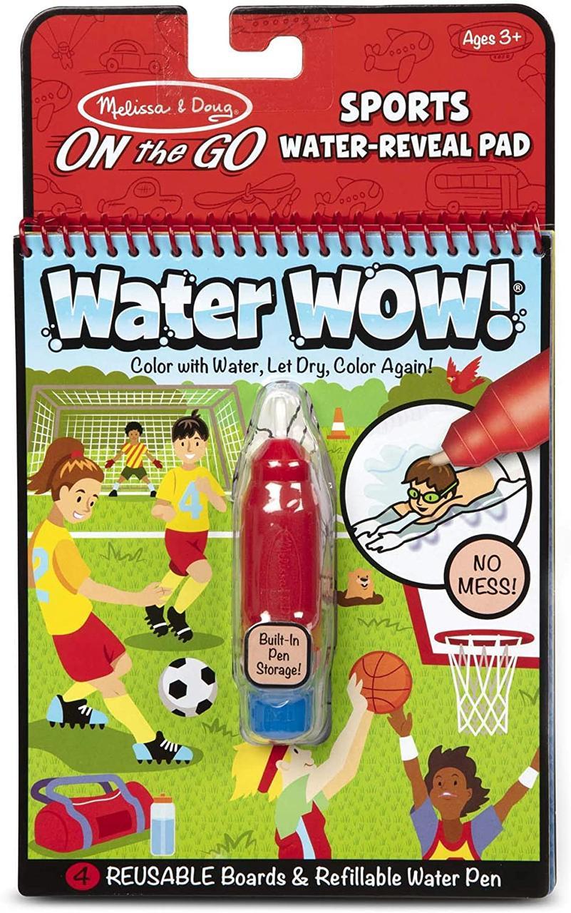 Melissa & Doug Волшебная водная многоразовая раскраска спорт 30175 On the Go Water Wow! Sports