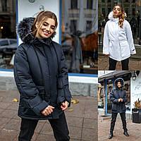 Р 42-46 Зимняя куртка с мехом на капюшоном 23199