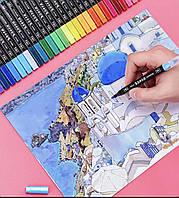 Маркеры кисточка акварельные SketchMarker двусторонние для бумаги набор 36 шт