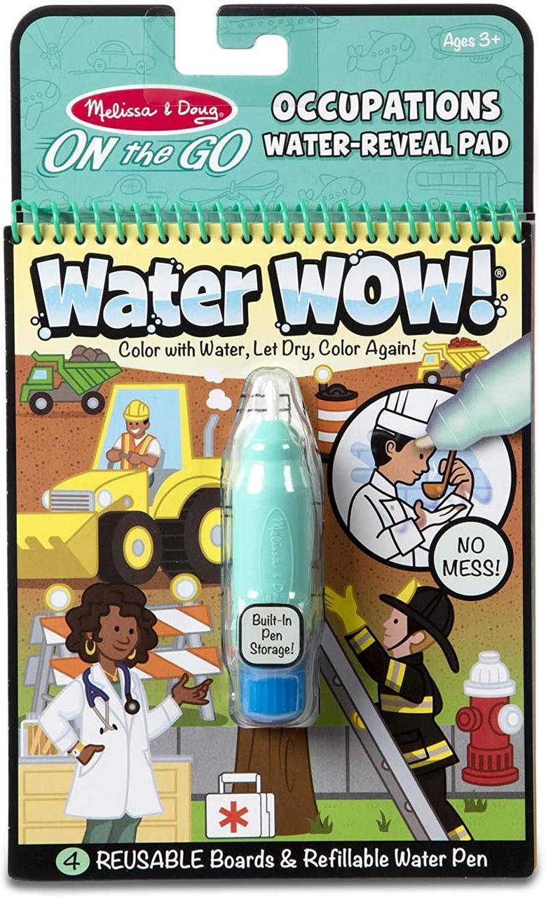 Melissa & Doug Волшебная водная многоразовая раскраска Профессии 30180 On the Go Water Wow! Occupations