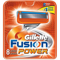 Сменные кассеты Gillette Fusion Power 8 шт. (Жиллет Фьюжин Пауэр)