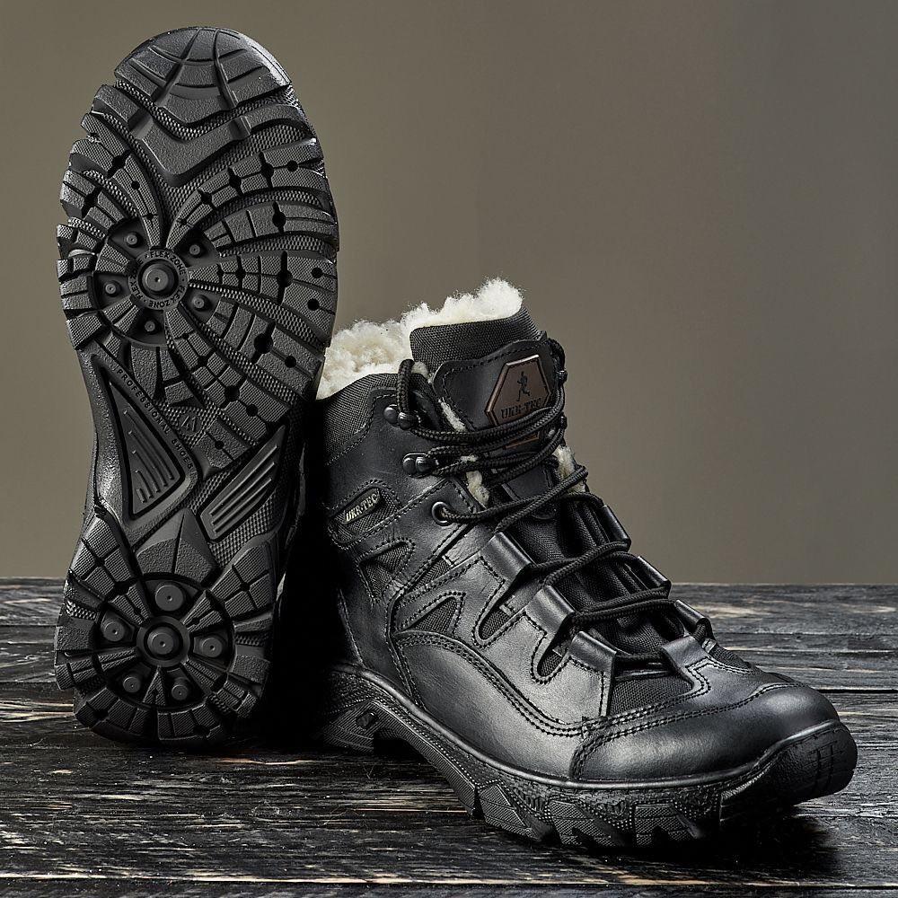 """Ботинки  """"УКР-ТЕК"""" ЧЁРНЫЕ зимние, 36-46 размеры"""