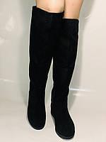 Molka.Натуральный мех. Зимние сапоги-ботфорты на низком каблуке. Натуральная замша. Р. 37 ,39,40., фото 7