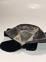 Molka.Натуральный мех. Зимние сапоги-ботфорты на низком каблуке. Натуральная замша. Р. 37 ,39,40., фото 8