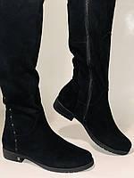 Molka.Натуральный мех. Зимние сапоги-ботфорты на низком каблуке. Натуральная замша. Р. 37 ,39,40., фото 10