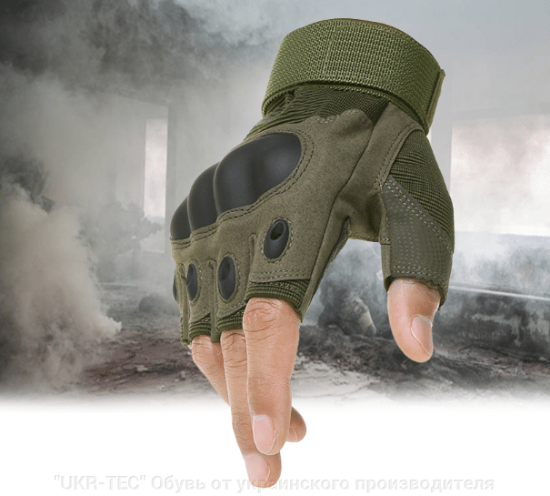 Тактические перчатки БЕСПАЛЫЕ OAKLEY OLIVE Реплика