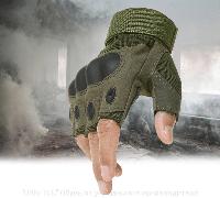 Тактические перчатки БЕСПАЛЫЕ OAKLEY OLIVE Реплика, фото 1