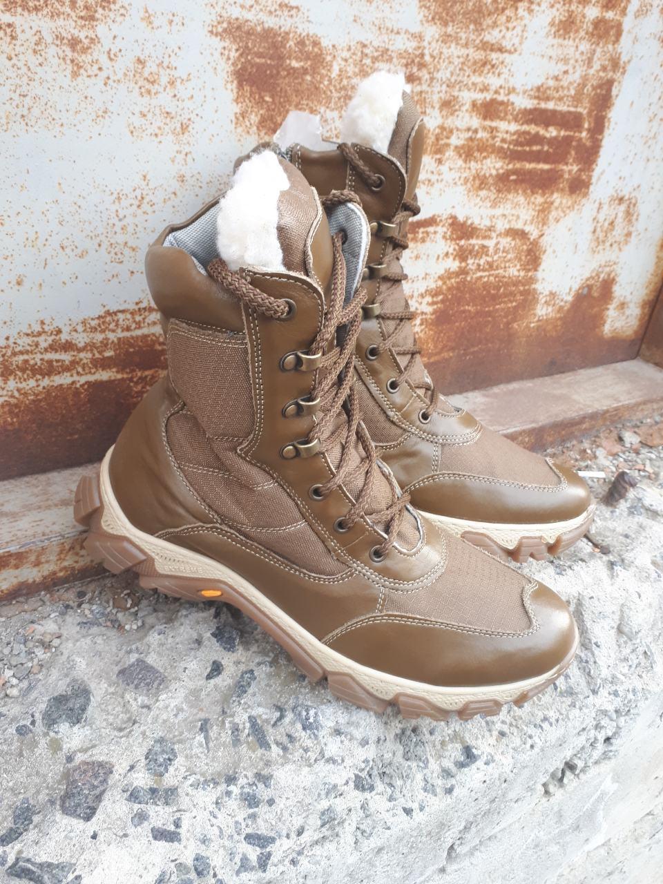 """Берцы зимние, тактическая обувь  """"UKR-TEC"""" КОЙОТ 36-46 размеры"""