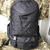 Рюкзак тактический чёрный на 40л, фото 1