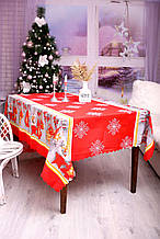 Скатертина Новорічна 150-220 «Сніжинки»