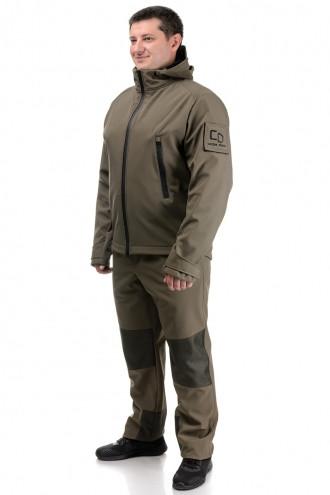 Демисезонный костюм тактический, военный, армейский для охоты и рыбалки «SCOUT» OLIVA (КУРТКА И ШТАНЫ)