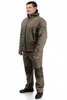 Демисезонный костюм тактический, военный, армейский для охоты и рыбалки «SCOUT» OLIVA (КУРТКА И ШТАНЫ), фото 1