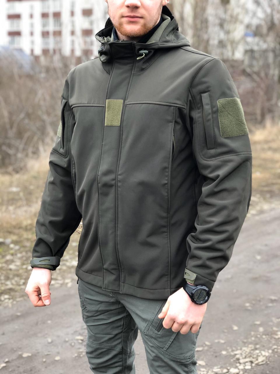 """Тактическая курточка, ветровка SOFT SHELL MILITARY OLIVE """"ЛЕГИОН"""" для охоты и рыбалки, службы"""