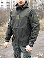 """Тактическая курточка, ветровка SOFT SHELL MILITARY OLIVE """"ЛЕГИОН"""" для охоты и рыбалки, службы, фото 1"""