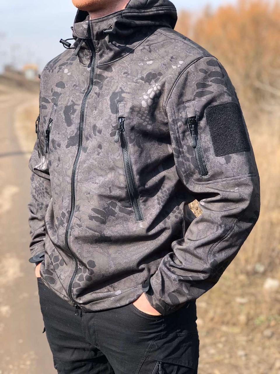 Куртка тактическая, армейская, для охоты и рыбалки SOFT SHELL MILITARY URBAN