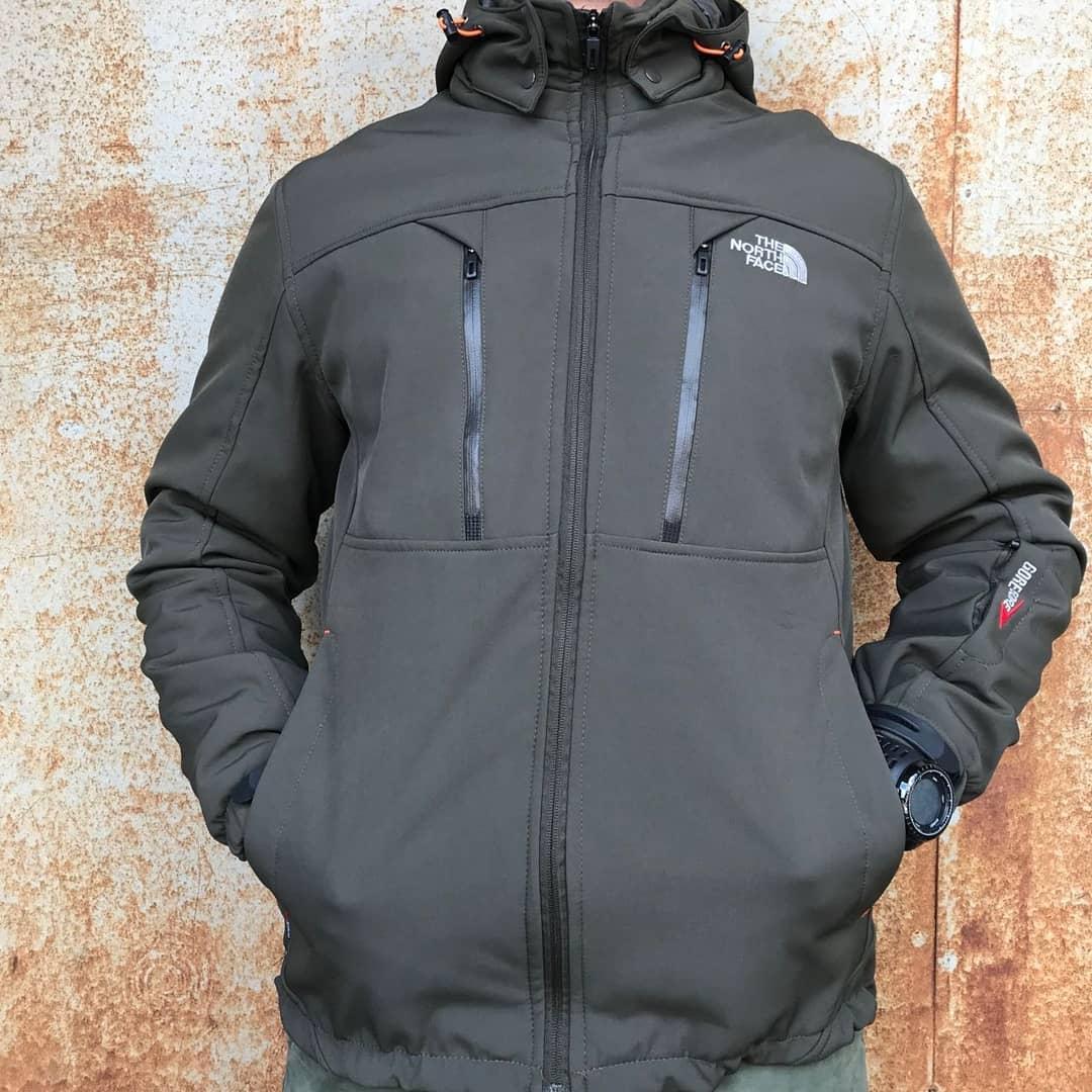 Куртка тактическая для активного отдыха Military Soft Shell The North Face Olive реплика
