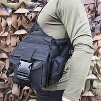 Сумка через плечо/ военная сумка EDC Black