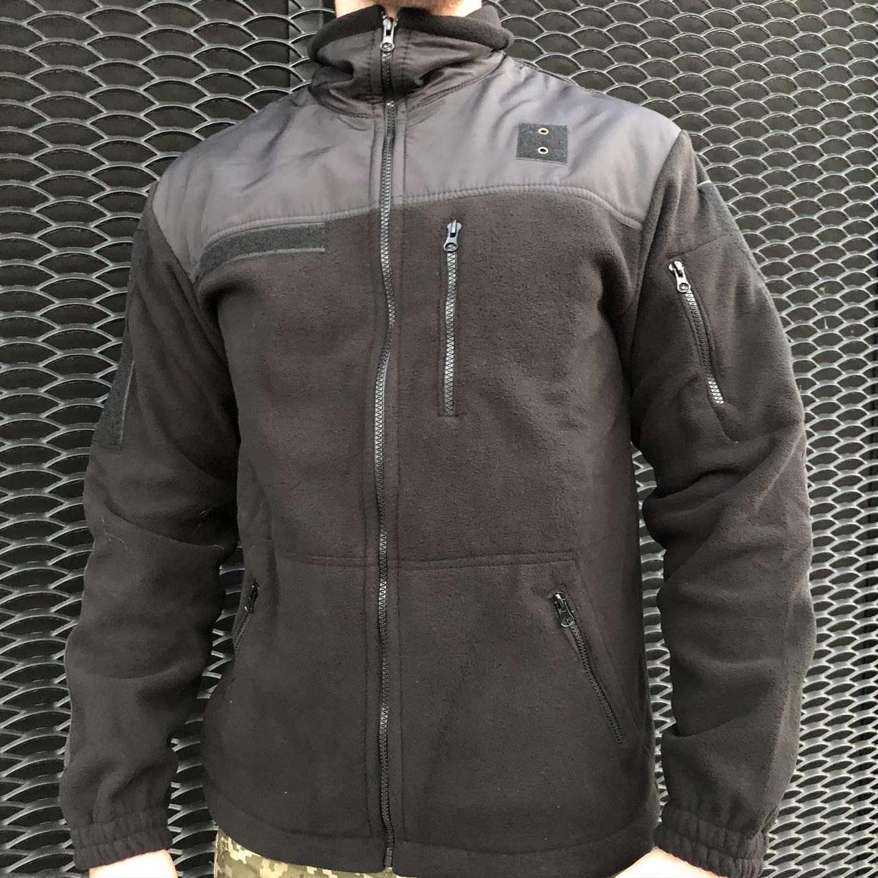 Кофта, реглан, флиска военная, армейская COMANDER-I BLACK MAN