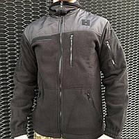 Кофта, реглан, флиска военная, армейская COMANDER-I BLACK MAN, фото 1